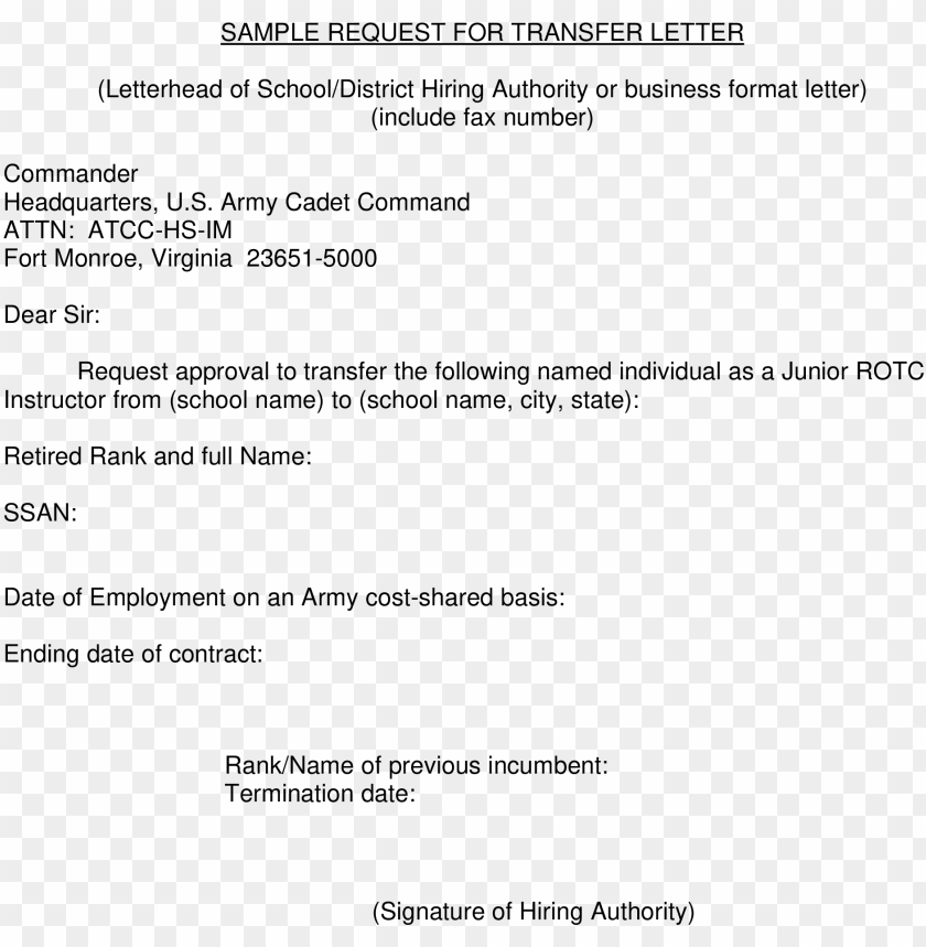 free PNG formal request for transfer letter how to write a format - internet banking request letter format PNG image with transparent background PNG images transparent