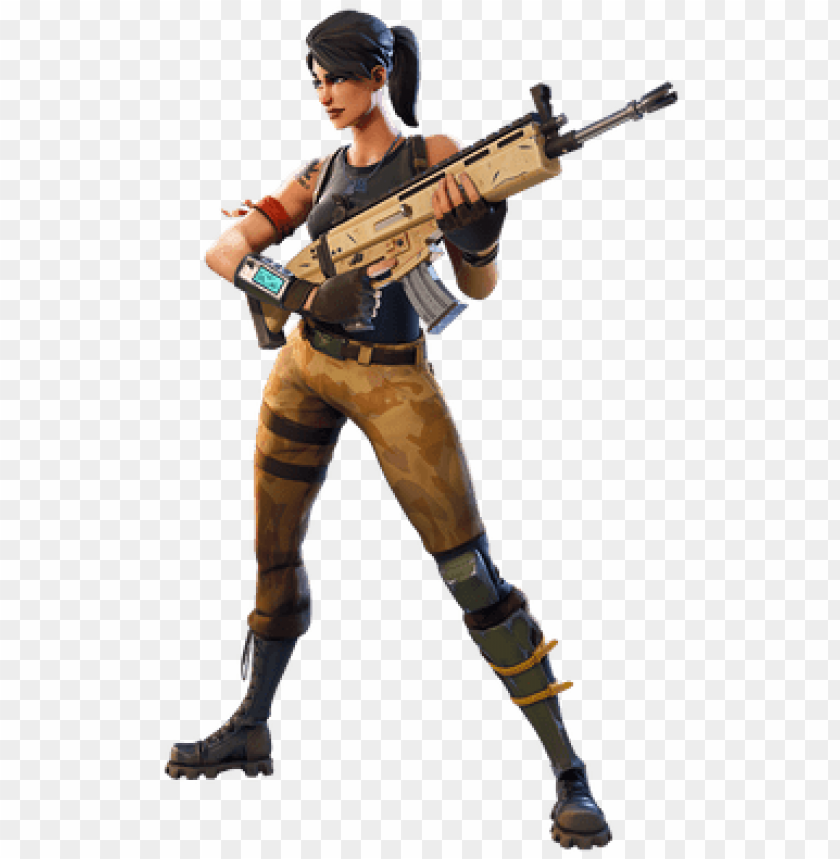 free PNG fortnite girl character with gun - fortnite character transparent PNG image with transparent background PNG images transparent