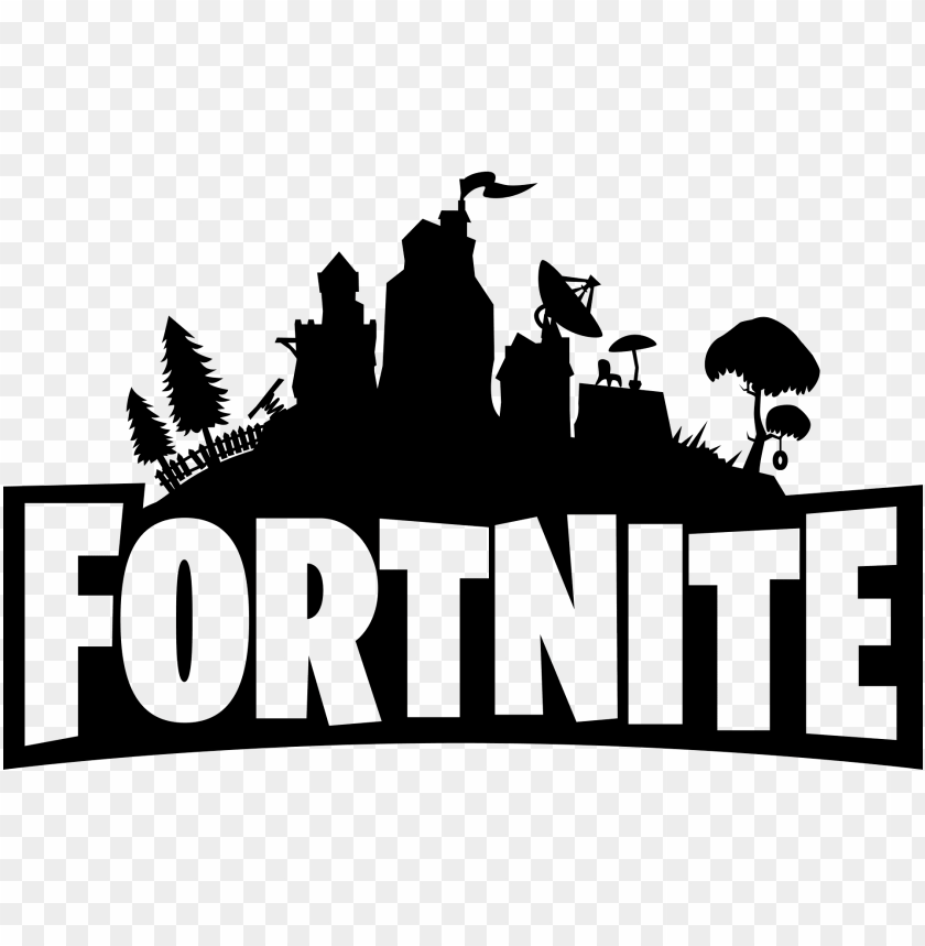 Fortnite Logo Black And White Png Free Png Images Toppng