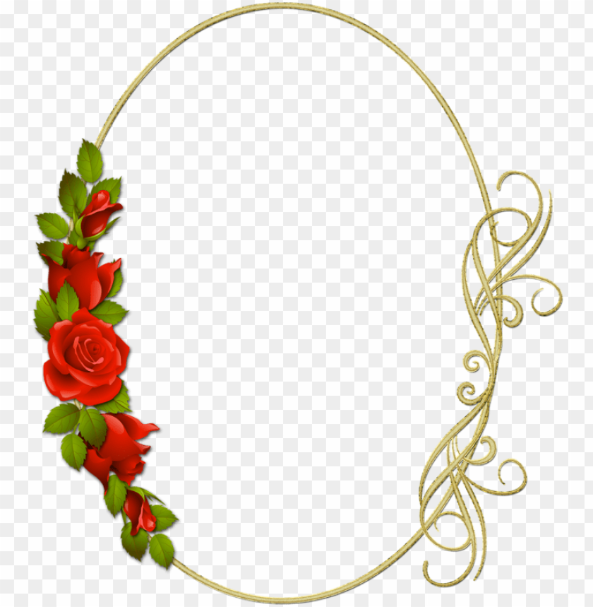 free PNG Фотки floral border, art clipart, framed art, clip - marcos con rosas rojas PNG image with transparent background PNG images transparent