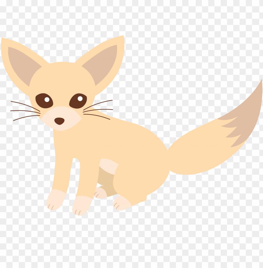 free PNG fox clipart baby fox - cute fennec fox drawi PNG image with transparent background PNG images transparent