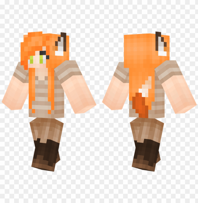 free PNG foxy lady fox ears, minecraft girl skins - minecraft skins cool gree PNG image with transparent background PNG images transparent