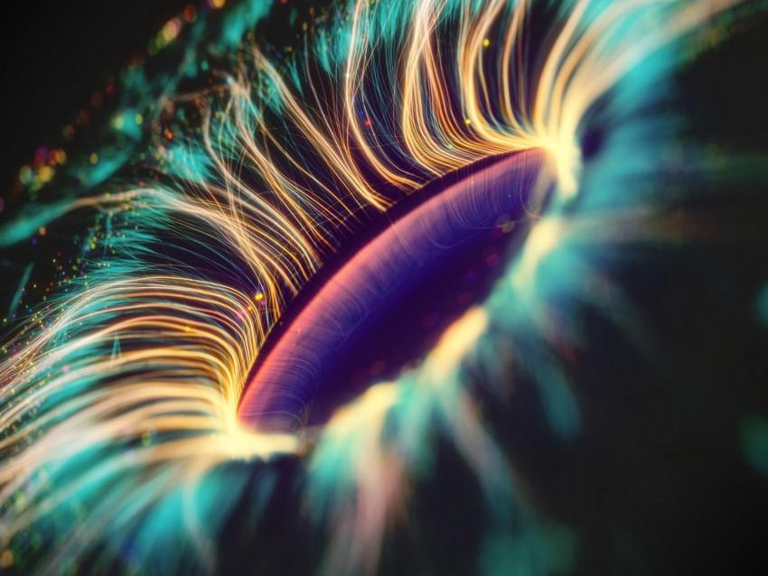 free PNG fractal, eye, pupil, digital, shine, glow background PNG images transparent