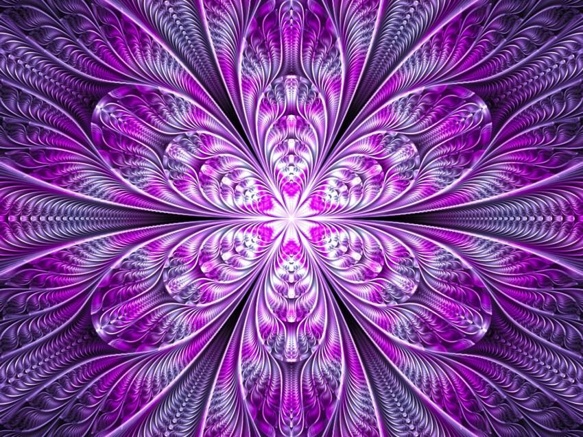 free PNG fractal, flower, abstraction, bright, purple, digital background PNG images transparent