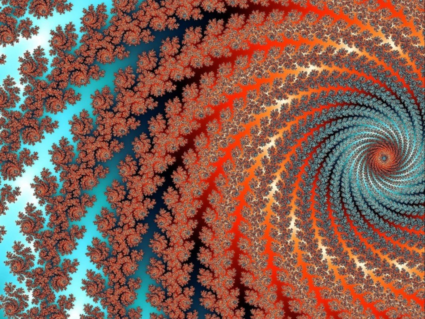 free PNG fractal, vortex, twisted, multicolored, abstraction, digital background PNG images transparent