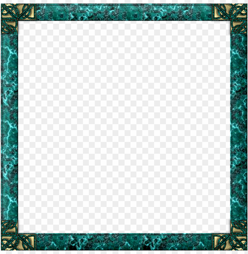 free PNG frame background, frame clipart, borders and frames, - blue green frame PNG image with transparent background PNG images transparent