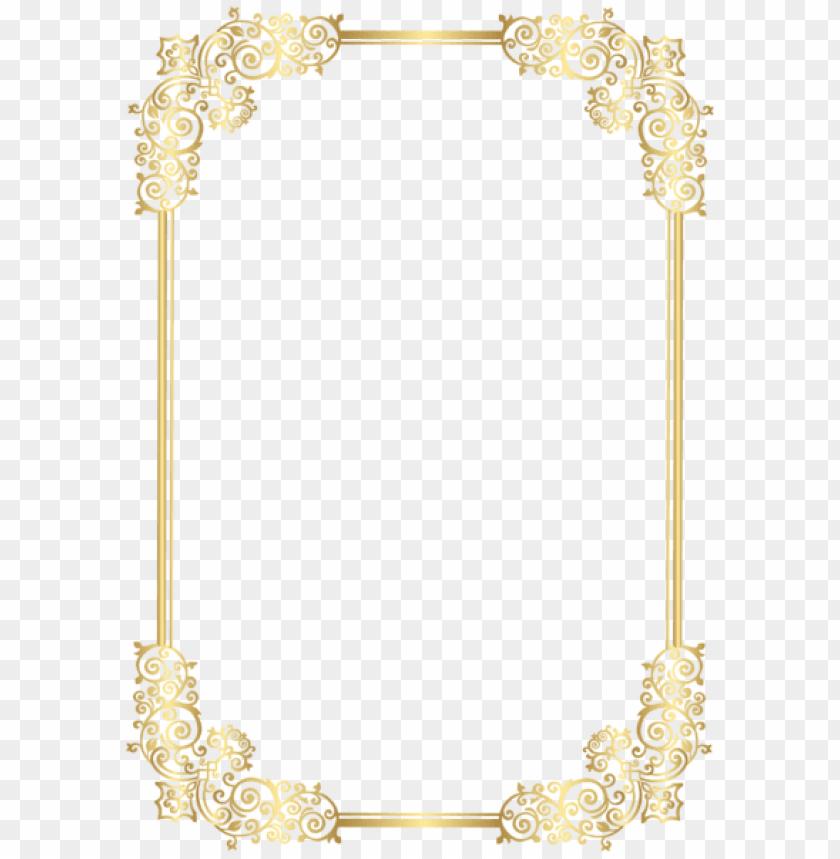 free PNG frame clipart, decorative frames, high quality images, - Рамка Для Текста Золотая PNG image with transparent background PNG images transparent