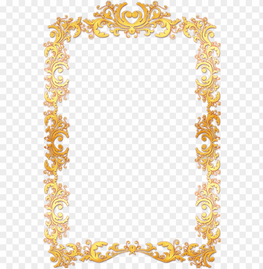 free PNG frame, ornate, gold, vintage, portrait, picture, empty - gold vintage frame border PNG image with transparent background PNG images transparent