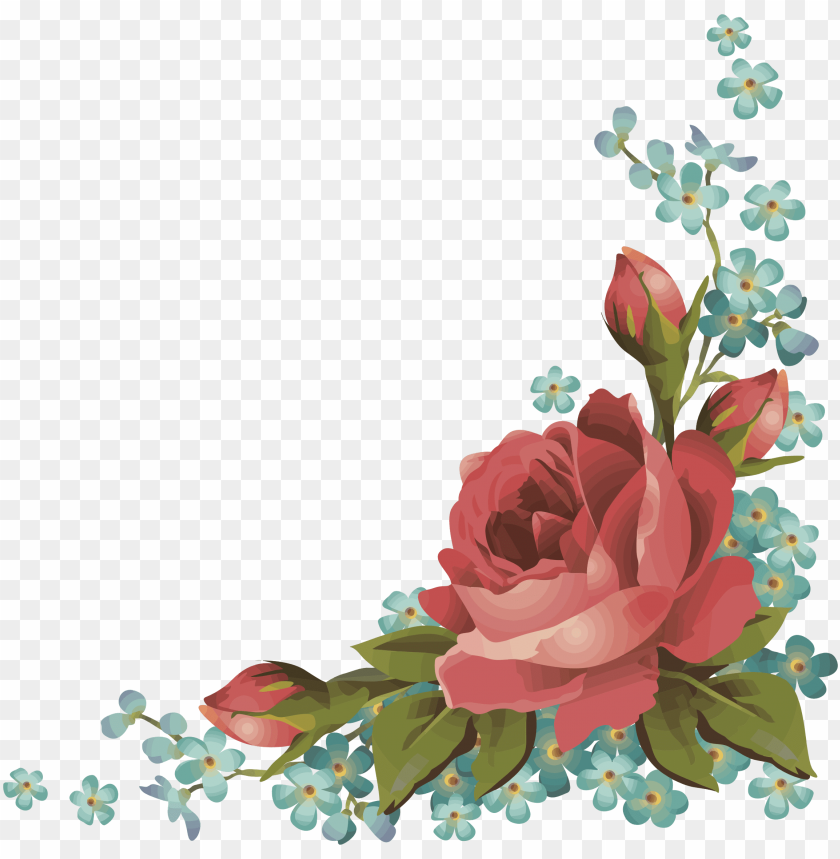 free PNG frames frame borders border roses rose flowers flower - corner floral border rose transparent PNG image with transparent background PNG images transparent