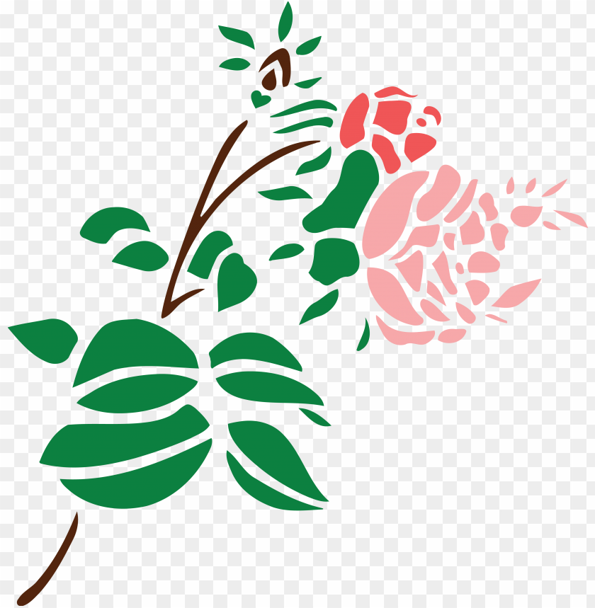 Free Clipart Of A Stem Of Roses Black And White Rose Flower Art Png Image With Transparent Background Toppng
