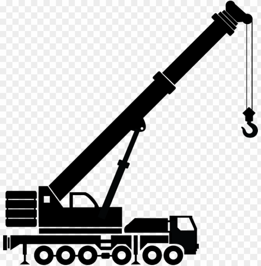 free PNG free crane clipart black and white - truck crane clipart black and white PNG image with transparent background PNG images transparent