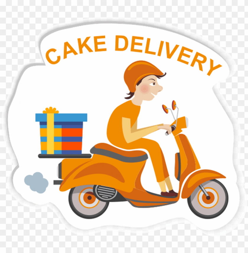 free PNG free delivery - cake delivery clipart PNG image with transparent background PNG images transparent