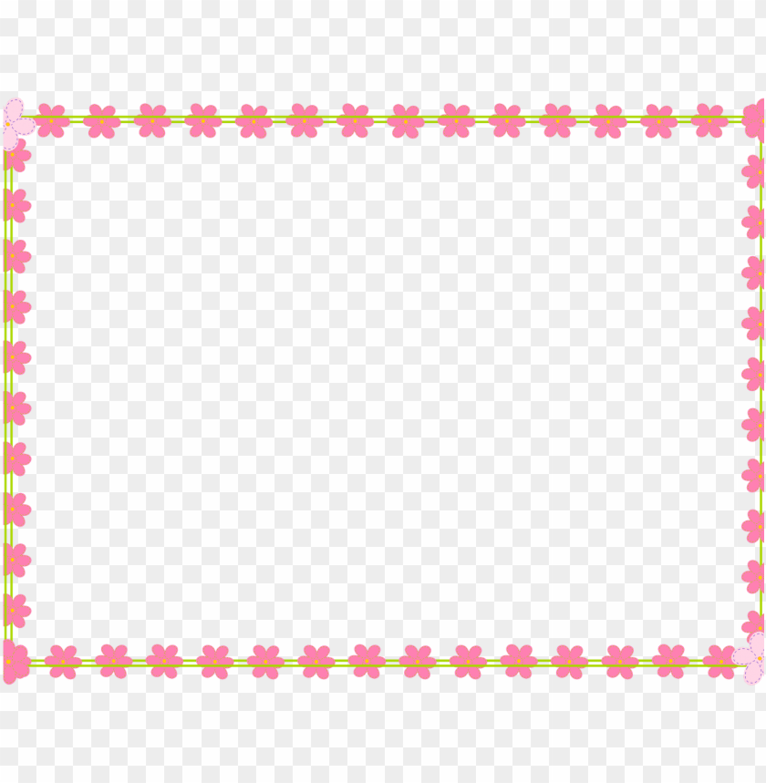 free PNG free digital flower border scrapbooking elements clipart - our 1st valentines day quotes PNG image with transparent background PNG images transparent