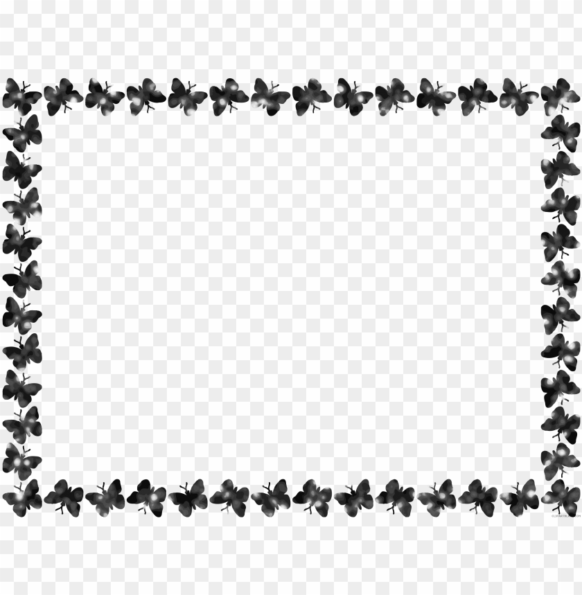 Free Butterfly Black And White Clip Art with No Background - ClipartKey
