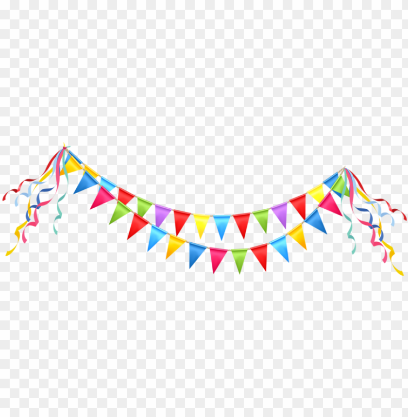 free PNG free download garland vector party banner - celebration clipart PNG image with transparent background PNG images transparent