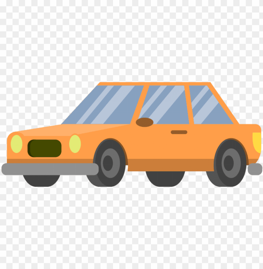 Free Download High Quality Cartoon Car Png Icon Orange Cartoon Car No Background Png Image With Transparent Background Toppng