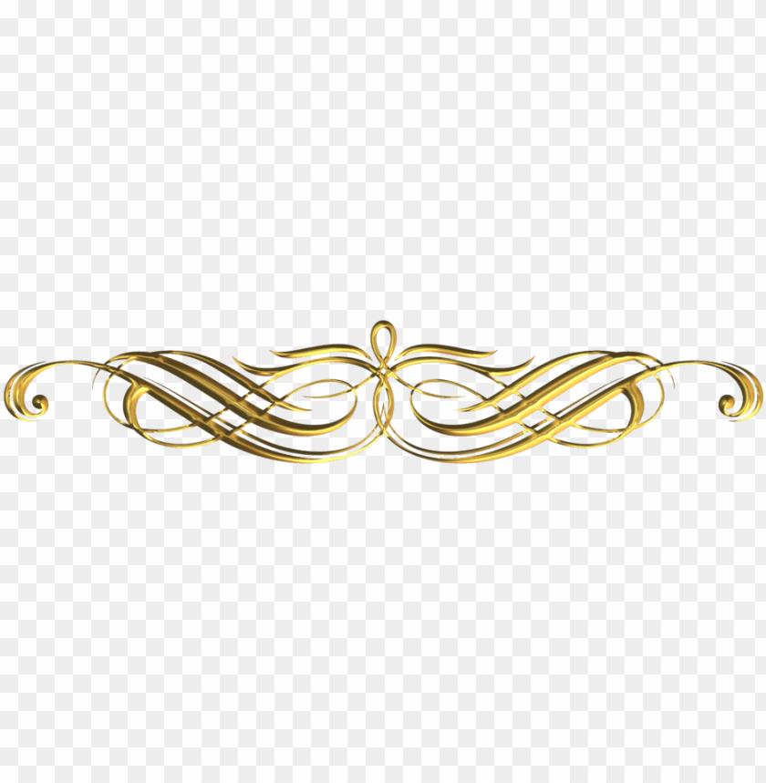 free PNG free download transparent decorative lines clipart - decorative gold line PNG image with transparent background PNG images transparent