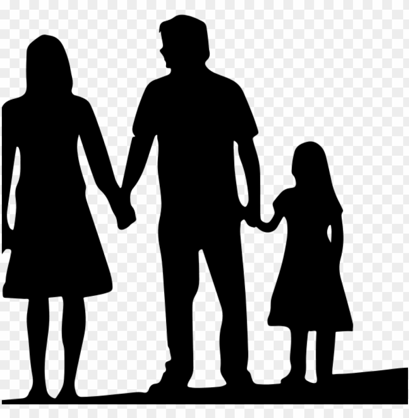 free PNG free family silhouette clip art 19 4 person family - family cartoon black and white PNG image with transparent background PNG images transparent