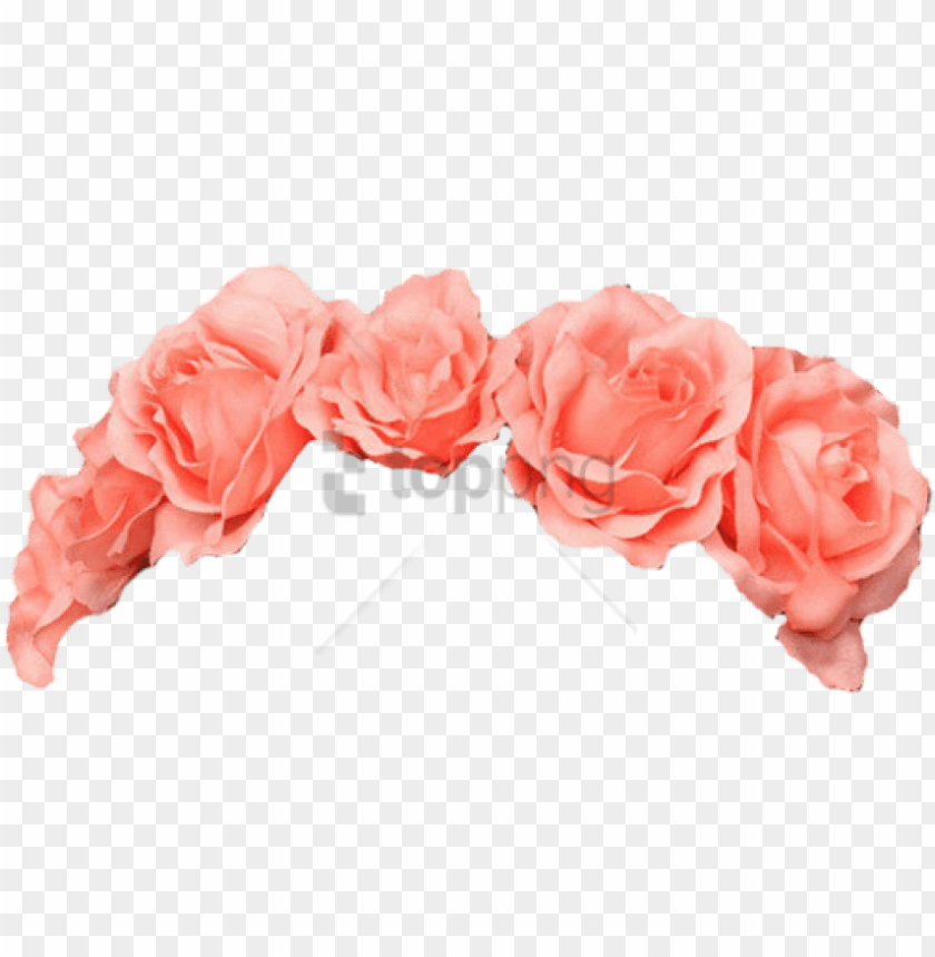 free PNG free flower crown transparent overlay tumblr image - flower crown png pink PNG image with transparent background PNG images transparent