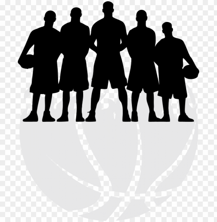 free PNG free girl basketball player silhouette png - basketball team silhouette PNG image with transparent background PNG images transparent
