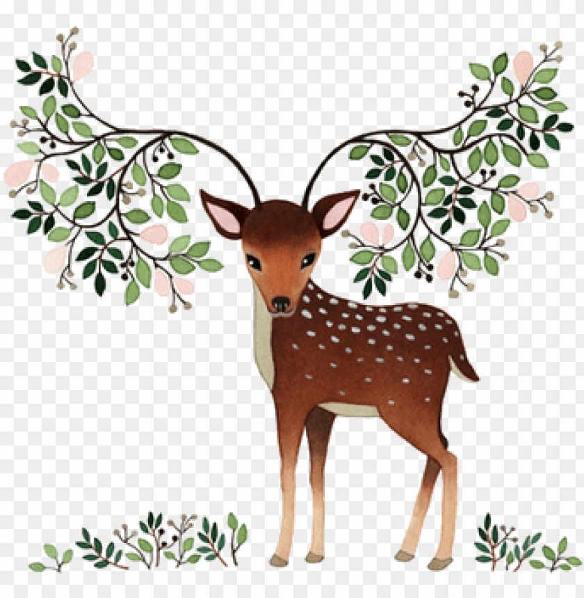 free PNG free girly clipart deer - deer illustratio PNG image with transparent background PNG images transparent