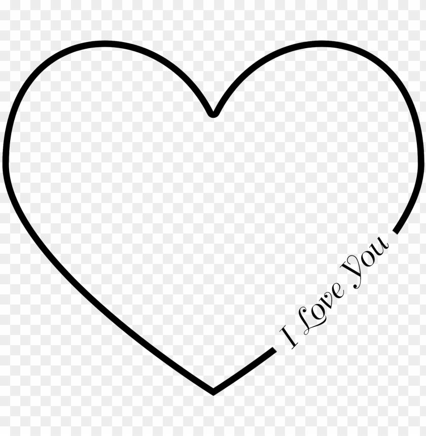Heart emoji outline black Heart symbols