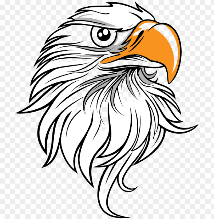 free PNG free library bald eagle head clipart - eagle head vector PNG image with transparent background PNG images transparent