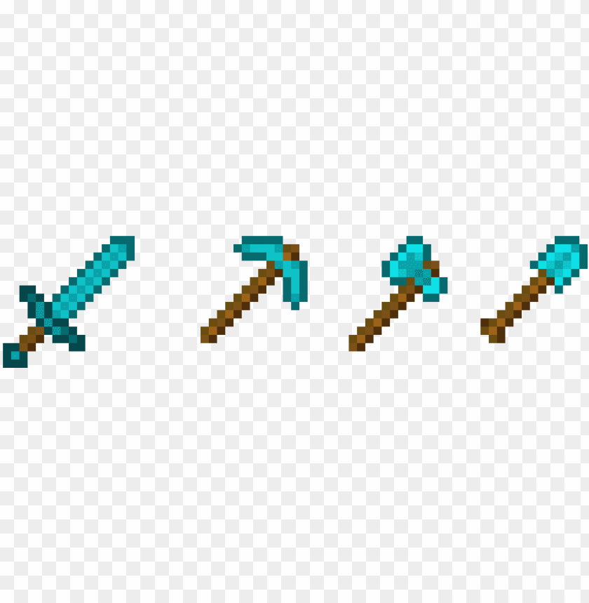 free PNG free minecraft wallpaper diamond tools - minecraft tools pixel art PNG image with transparent background PNG images transparent