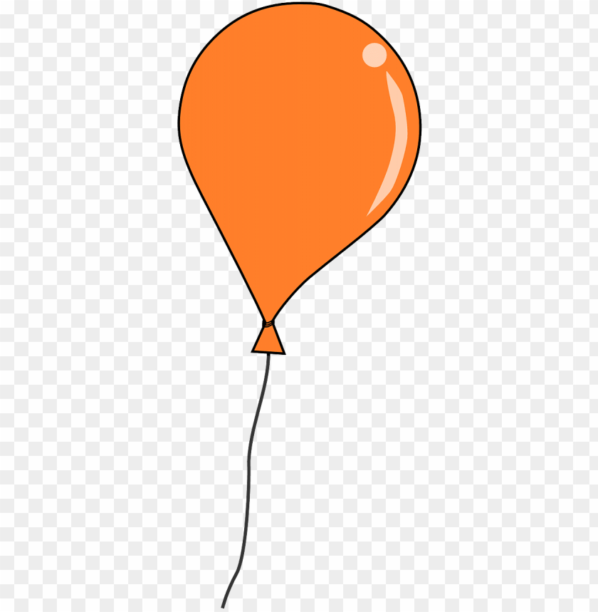 free orange balloon clip art - transparent background balloon clipart PNG image with transparent background@toppng.com