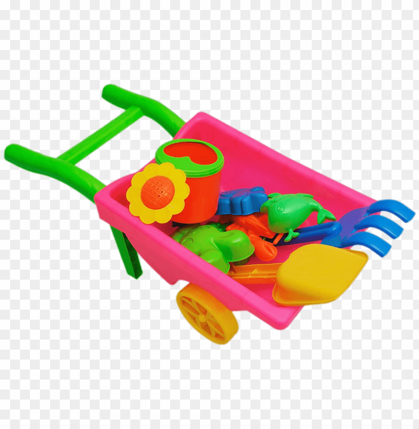 free PNG Download free png Beach Toys In Plastic Wheelbarrow png png images background PNG images transparent