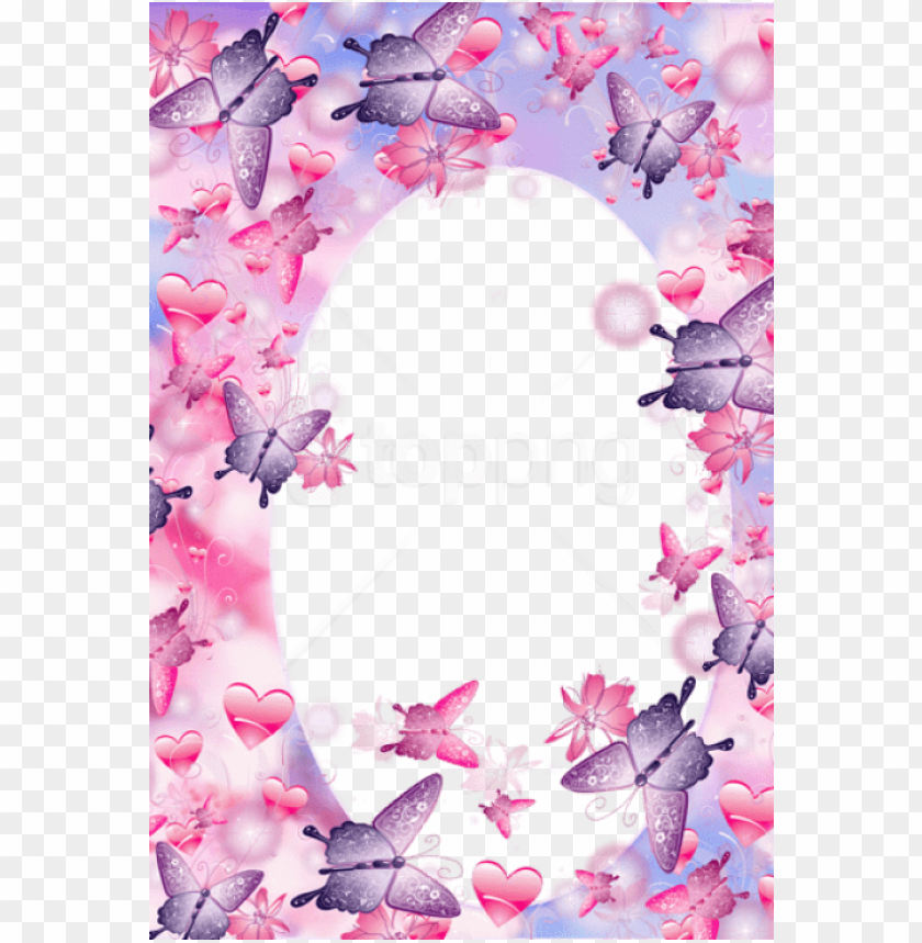 free PNG free png best stock photos cute pink and purple butterfly - pink and purple frames PNG image with transparent background PNG images transparent