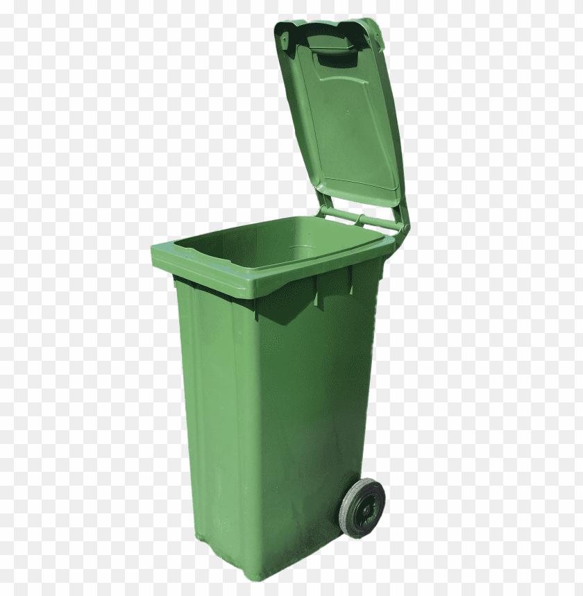 free PNG Download Bin Open Green Wheelie trash png images background PNG images transparent
