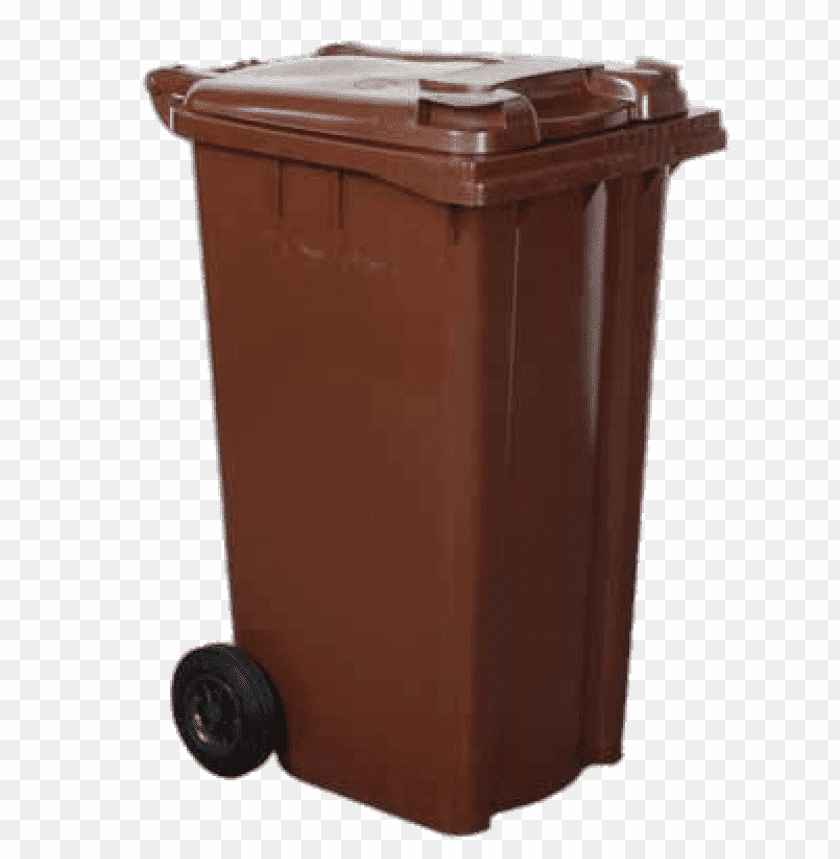 Download Bin Wheelie Brown png images background@toppng.com