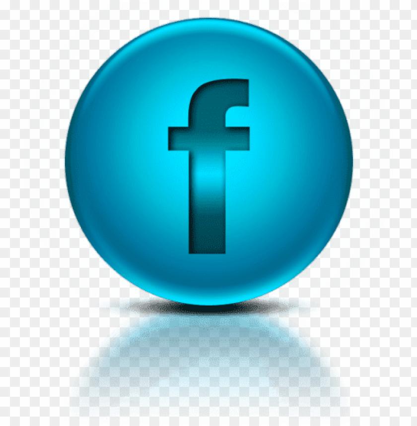 free PNG free png blue metallic orb icon social media logos - social media symbol facebook logo PNG image with transparent background PNG images transparent