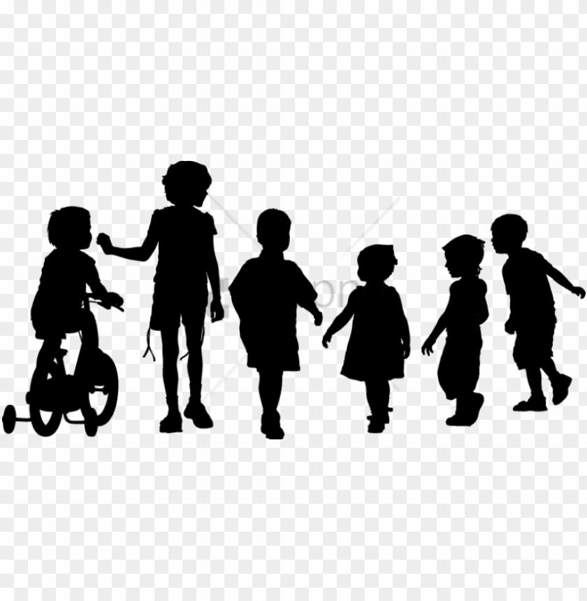 free PNG free png children walking png png image with transparent - kids png black PNG image with transparent background PNG images transparent