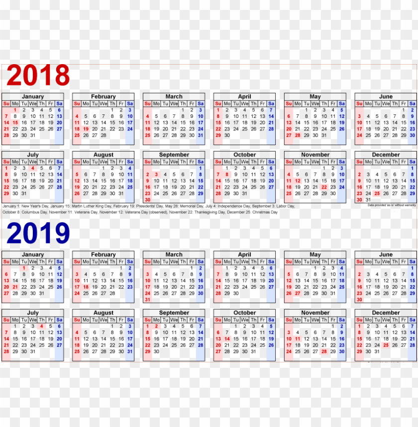 free PNG free png download 2018 2019 calendar s png images background - 2019 semi monthly payroll calendar PNG image with transparent background PNG images transparent