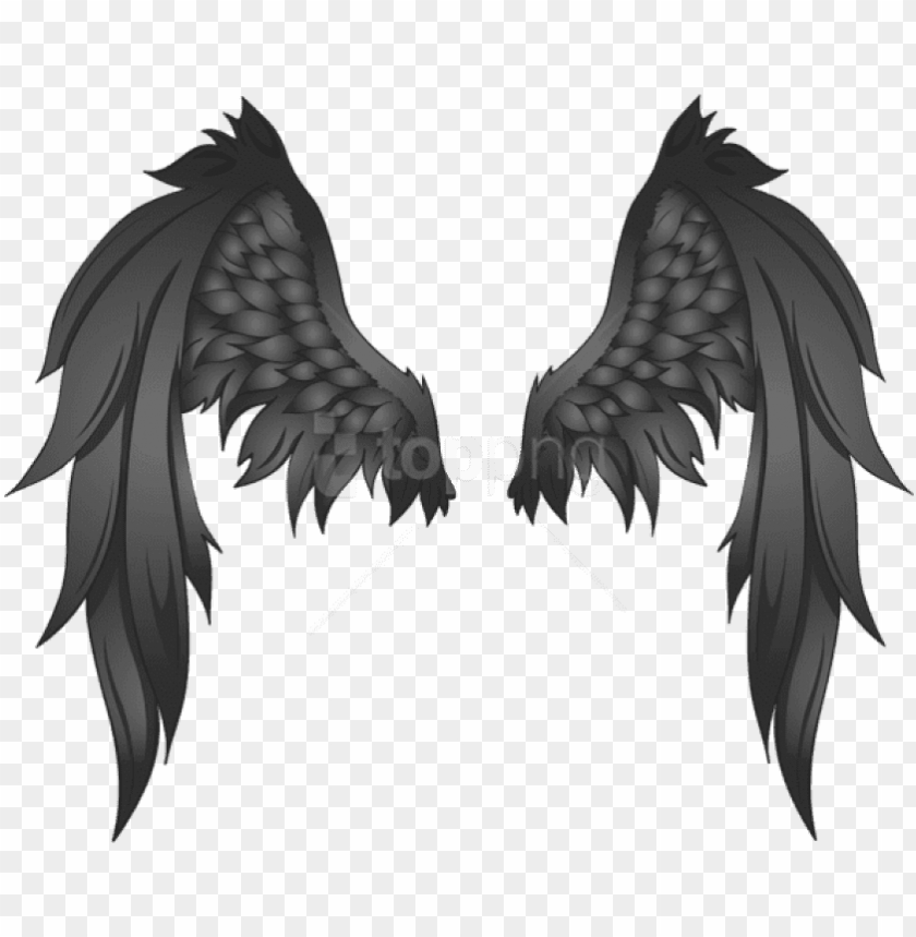 free PNG free png download black wings clipart png photo png - black angel wings transparent behind PNG image with transparent background PNG images transparent