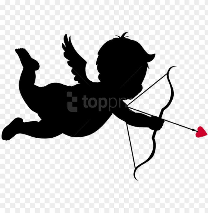 free PNG free png download cupid silhouettespicture png images - valentines cupid clip art PNG image with transparent background PNG images transparent