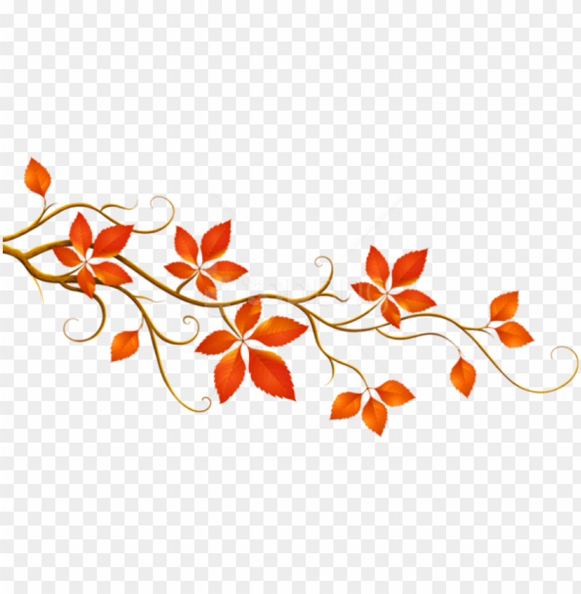 free PNG free png download decorative branch with autumn leaves - fall clipart leaves PNG image with transparent background PNG images transparent