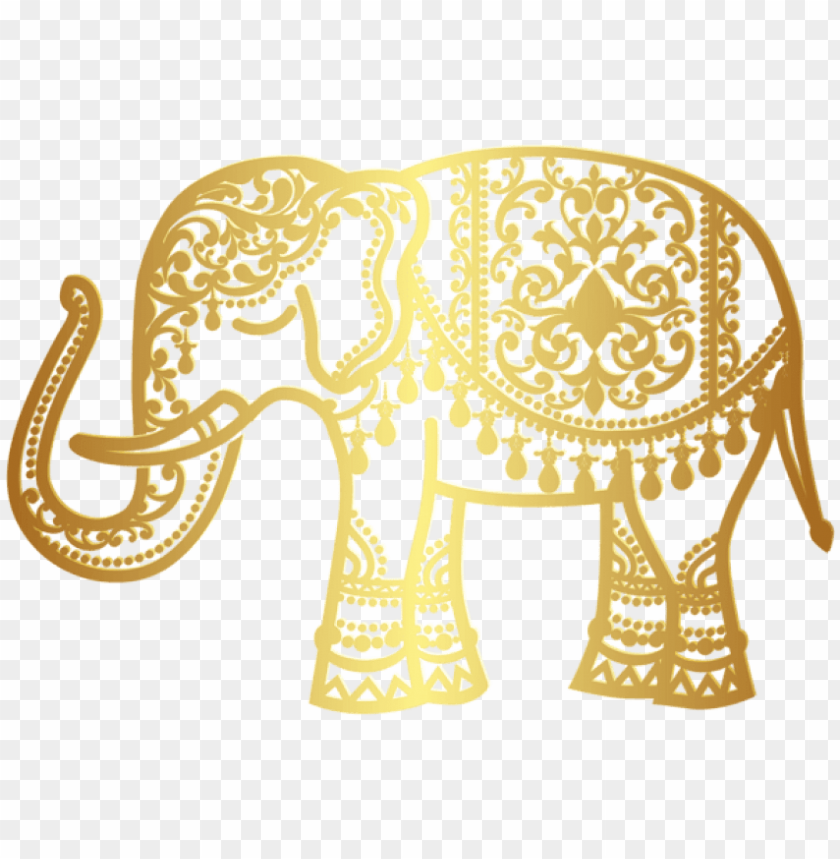 free PNG free png download decorative gold indian elephant png - transparent png gold elephant PNG image with transparent background PNG images transparent