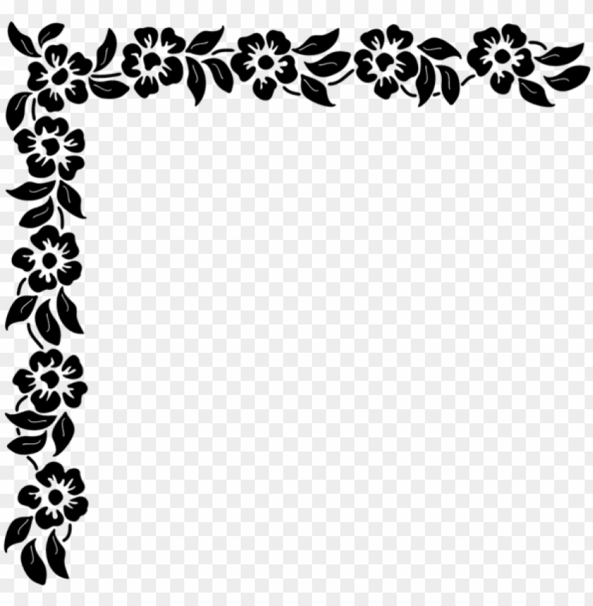 free PNG free png download floral corner png clipart png photo - corner clipart black and white PNG image with transparent background PNG images transparent