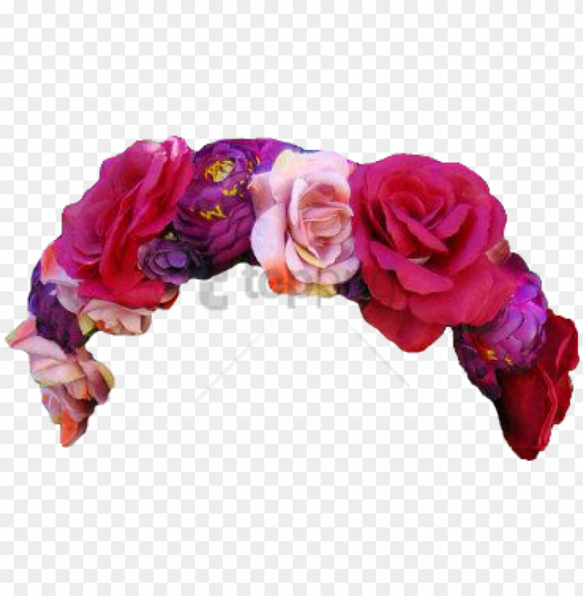 Free Png Download Flower Crown Transparent Overlay Red
