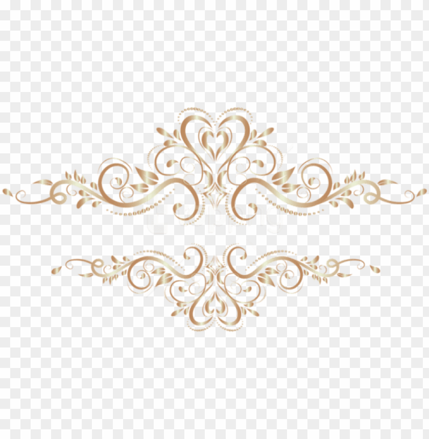Free Png Download Gold Element Transparent Clipart Transparent Gold Floral Ornaments Png Image With Transparent Background Toppng