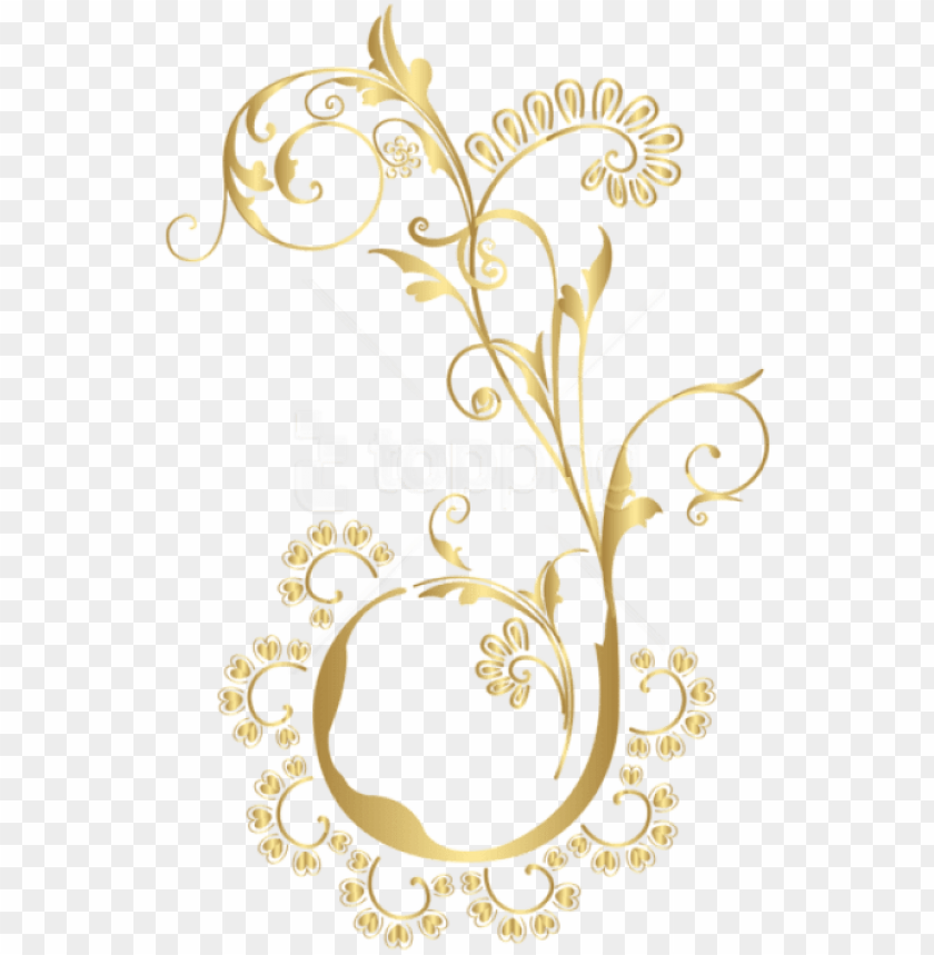 free PNG free png download gold floral element clipart png photo - gold floral design PNG image with transparent background PNG images transparent