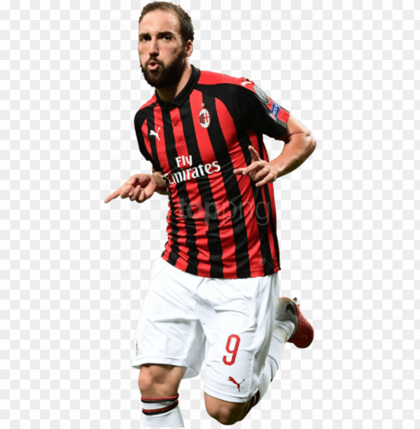 free PNG free png download gonzalo higuain png images background - gonzalo higuain ac milan PNG image with transparent background PNG images transparent