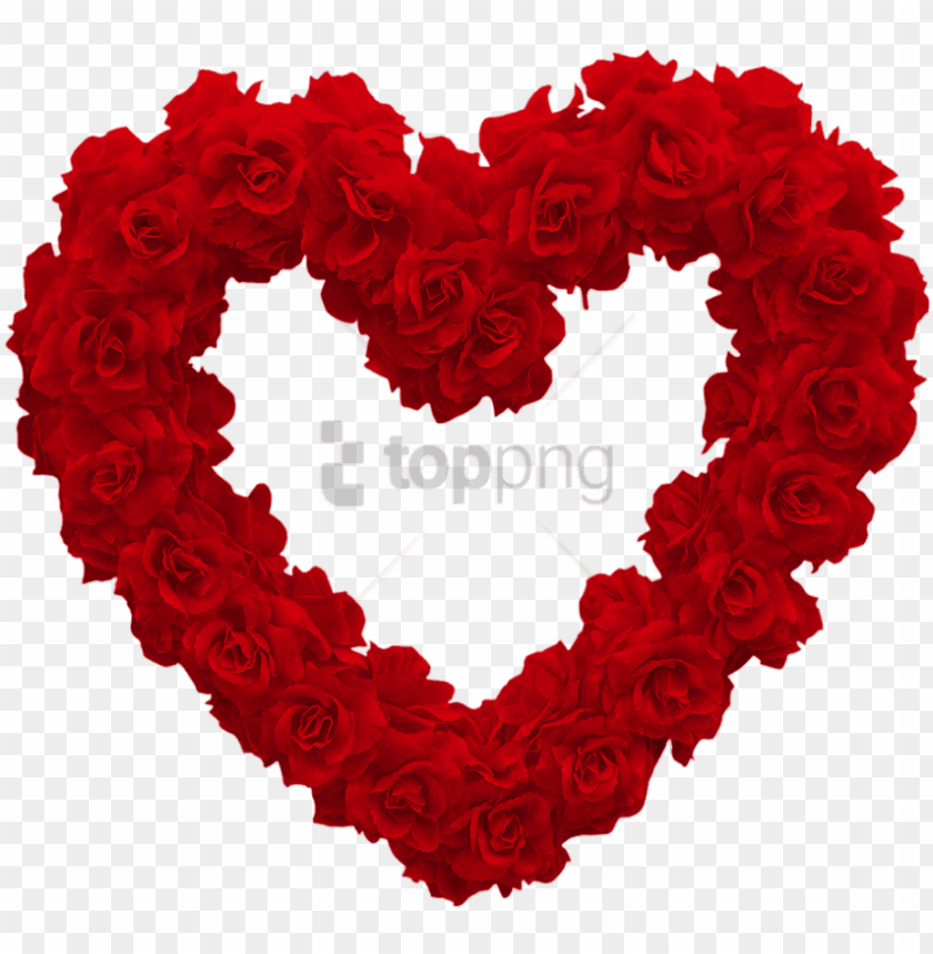free PNG free png download love heart of roses png images background - rose heart PNG image with transparent background PNG images transparent