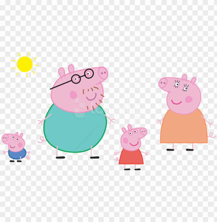 Free Png Download Peppa Pig Family Logo Transparent - Printable Peppa Pig  Family PNG Image With Transparent Background TOPpng