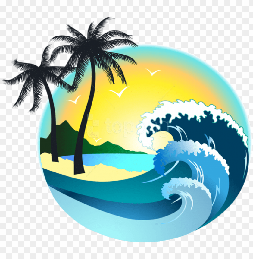 free PNG free png download summer sea decor clipart png photo - beach wave wave clipart PNG image with transparent background PNG images transparent
