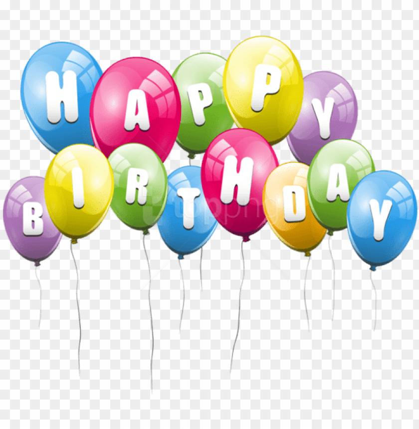 free PNG free png download transparent balloons happy birthday - transparent background birthday balloo PNG image with transparent background PNG images transparent