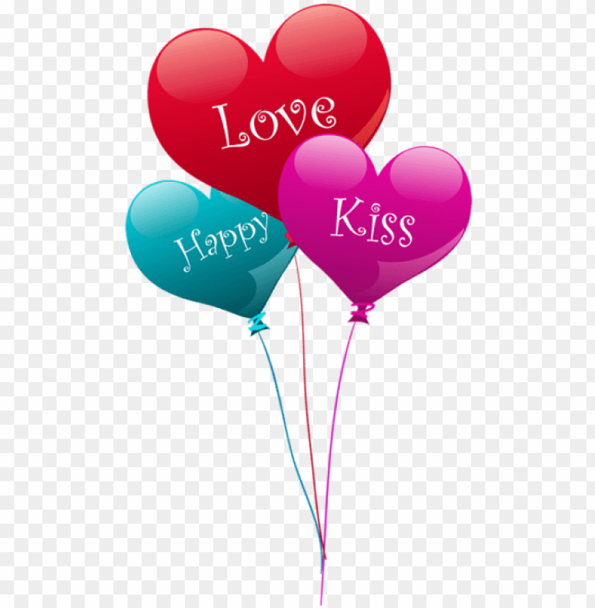 free PNG free png download transparent heart kiss love happy - happy valentines day balloons PNG image with transparent background PNG images transparent